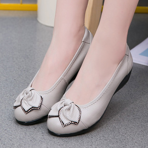 Image 3 - GKTINOO Plus Size(34 43)Loafers Comfortable Women Genuine Leather Flat Shoes Woman Casual Nurse Work Shoes Women Flats 6 colors