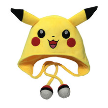 20pcs Kawaii Anime Pikachu Plush Toy Children Ear Cap Winter Hat Halloween Cosplay Accessories