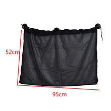 1 Pair Sun Shade Curtain Black Color Car Sunshade Curtain UV Protection Mesh Fabric With Suction Cup