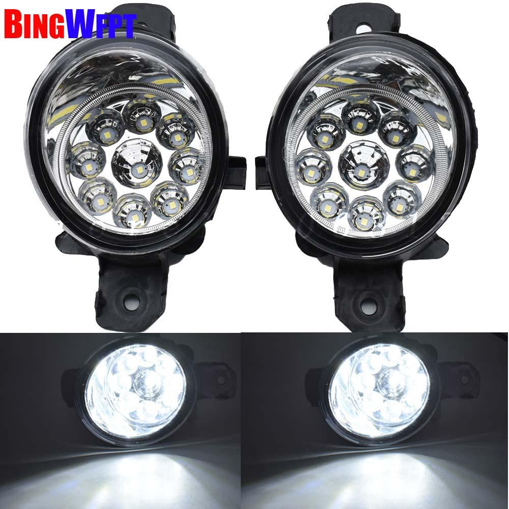 High quality 2PCS Fog font b Lamp b font Assembly Super Bright Fog Light For Nissan