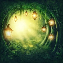 Laeacco Dreamy Lantern Light Cave Grass Baby Scenic Photographic Backgrounds Customized Photography Backdrops For Photo Studio