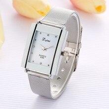 Женские часы из легированной стали, Женские кварцевые наручные часы, часы с прямоугольным циферблатом, Роскошные наручные часы для женщин, женские часы, relojes mujer