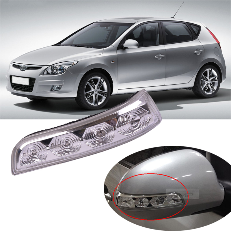 CAPQX For Hyundai I30 2008 2009 2010 2011 2012 Side Rearview Mirror LED Turn Signal Light Flasher Signal Lamp 87614-2L600