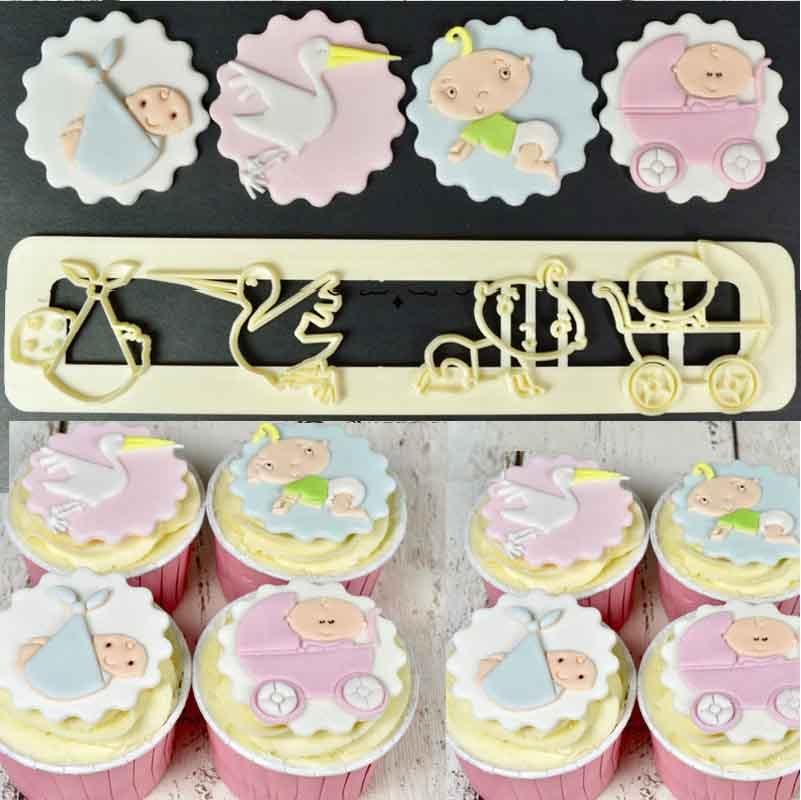 Sugarcraft font b Baby b font plastic fondant cutter cake mold fondant mold fondant cake decorating