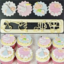 Sugarcraft Baby plastic fondant cutter cake mold fondant mold fondant cake decorating tools sugarcraft