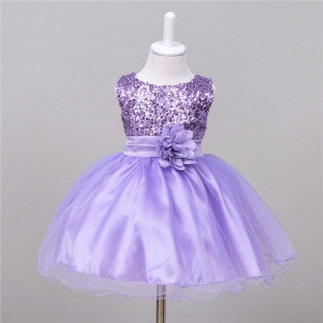 Vestido infantil para casamento azul