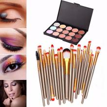 New Women 15 Colors Contour Face Cream Makeup Concealer Palette Professional + 20 Brush set di pennelli da trucco Anne