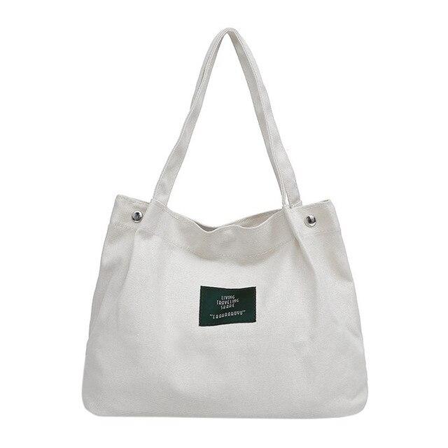 f0a5964259 Girls Women Retro Female Simple Letter Canvas Bag Crossbody Shoulder  Handbag white handbag shoulder bag messanger bag tote bag s-in Shoulder  Bags from ...