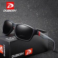 DUBERY Brand Design Fashion Polarized Sunglasses Men Ultralight Glasses Frame Square Sun Male Travel UV400 Shades D732