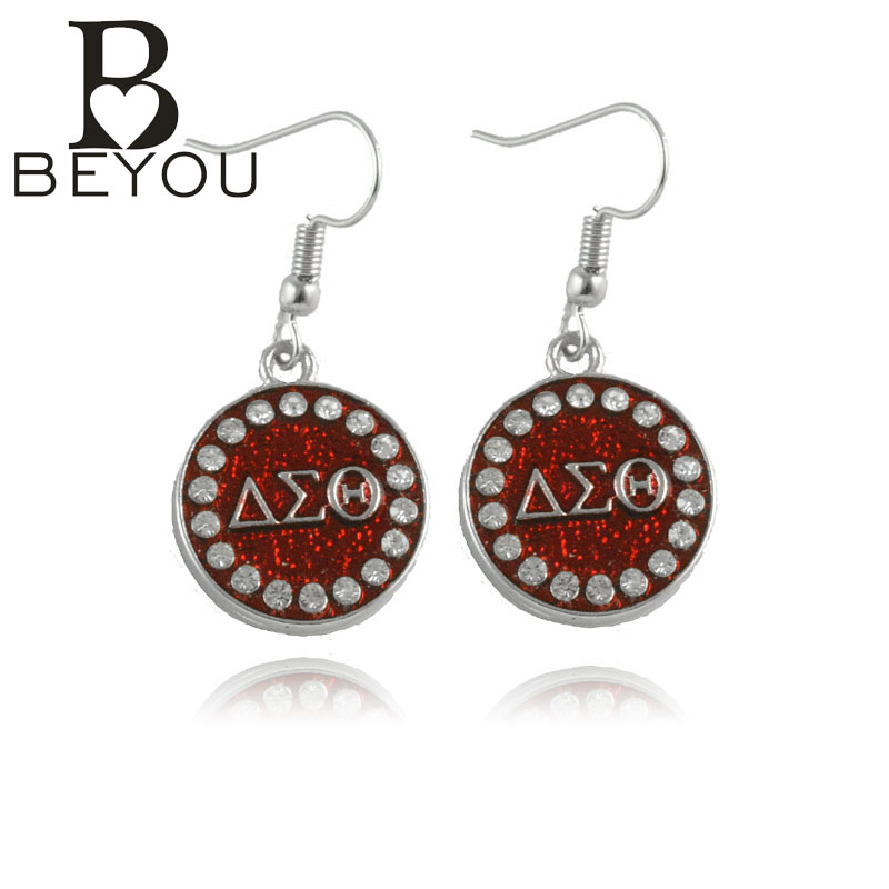 Delta Sigma Theta Earrings: 1pair Free Shipping Newest DST Charm Earring Delta Sigma