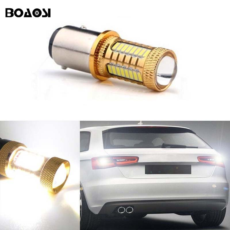 BOAOSI 1x For AUDI S3 S4 RS4 A6 RS6 Canbus no error backup reverse light lamp P21W 1156 BA15S LED CREE Chip High Power 2pcs brand new high quality superb error free 5050 smd 360 degrees led backup reverse light bulbs t15 for jeep grand cherokee