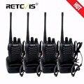 4 unids portátil walkie talkie retevis h-777 uhf 16ch 400-470 mhz de mano jamón hf transceptor de radio de dos vías radio comunicador walk talk