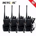 4pcs Portable Walkie Talkie Retevis H-777 16CH UHF 400-470MHz Handy Ham Radio Hf Transceiver Two Way Radio Comunicador Walk Talk