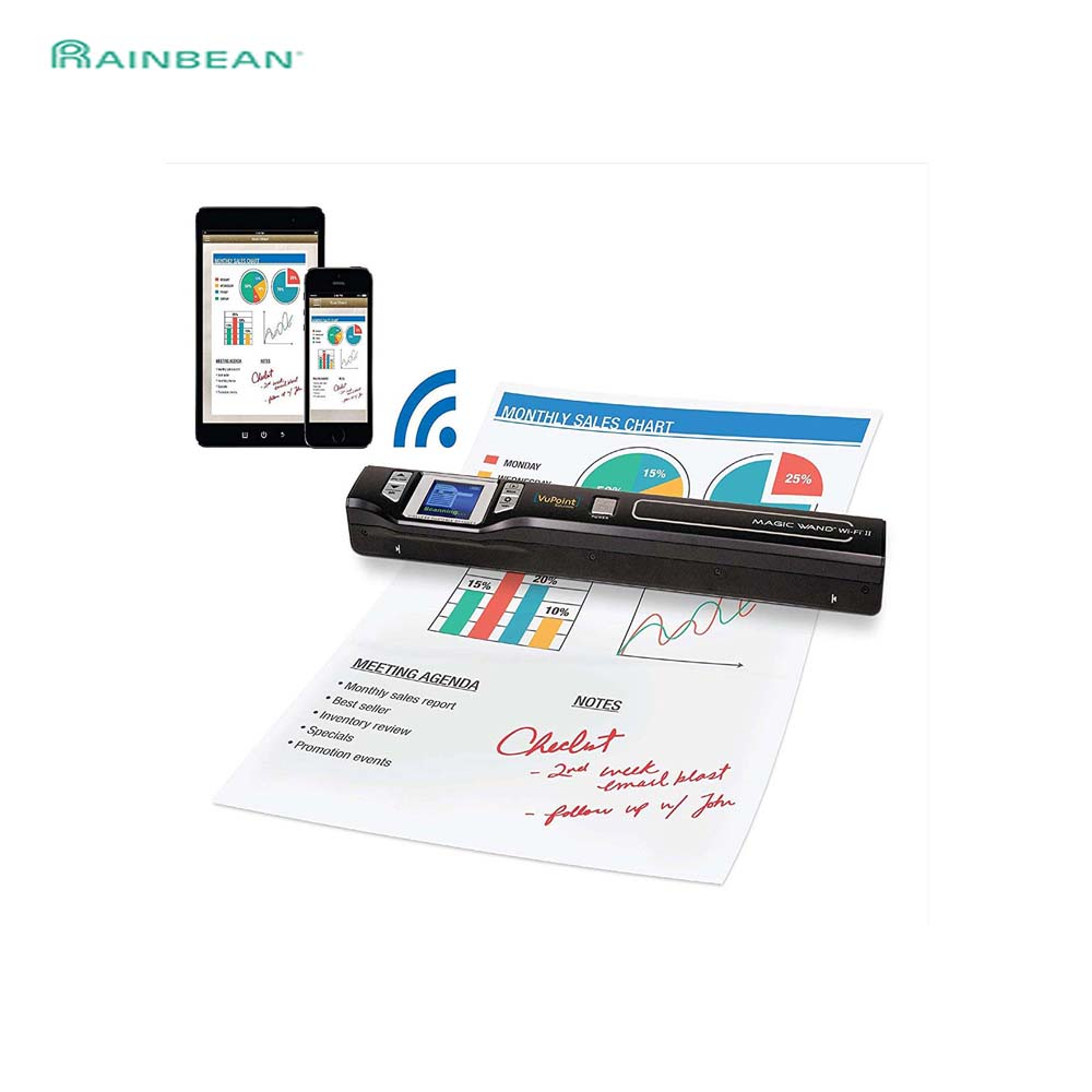 Iscan Mini Portable Scanner 900DPI LCD Display JPG PDF Photo Format Document Image Iscan Handheld Scanner A4 Book Scanner