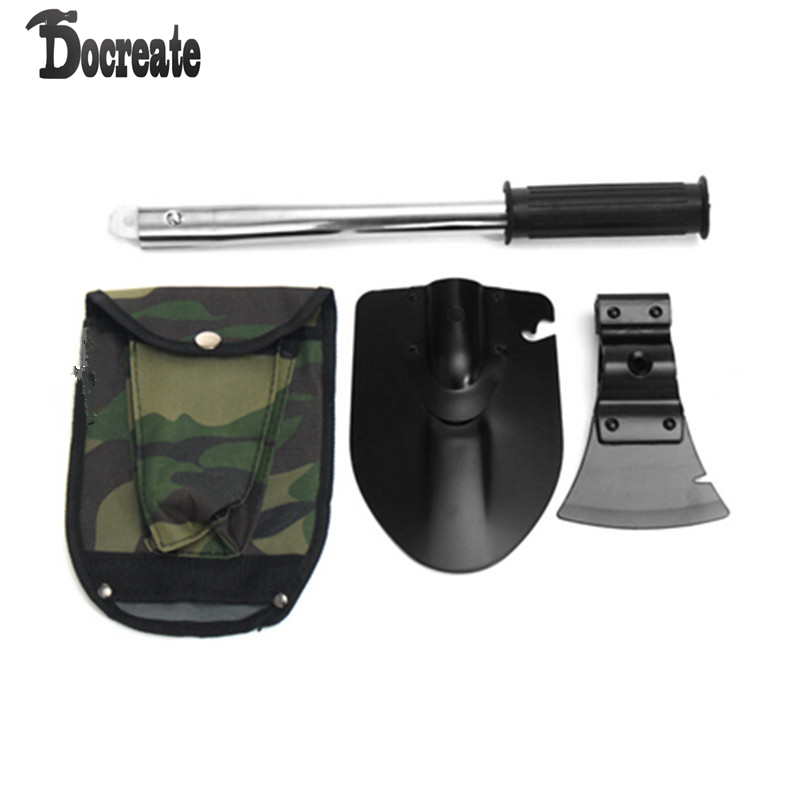 4-in-1 Camping Tool Kit Knife Shovel Axe Saw Hiking Self Defense Outdoor Emergency Tools