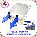 Simple máquina de impresión de pantalla de seda de un solo color pantalla de equipo de prensa