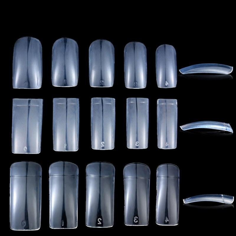 500pcspack False Full  Half  French Nail Tips Color Card Practice Display Tool Transparent False Nail Manicure Art Tools