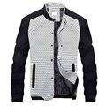 Port&Lotus Slim Fit Cotton Men Jackets Striped Patchwork Fashion Spring Autumn Men Clothing Clothes 193