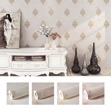 10M Home Improvement Wall Paper Modern Fashion Non-woven 3D Coining Wallpaper Rolls for Bedroom Background 5 Colors
