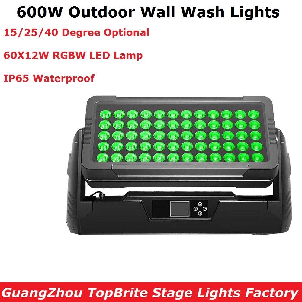 Livraison Gratuite 60X12 w RGBW 4IN1 LED Lumières de Lavage de Mur DMX Led Bar DMX Ligne Bar Étape De Lavage lumière IP65 Pour Dj En Plein Air Divertissements