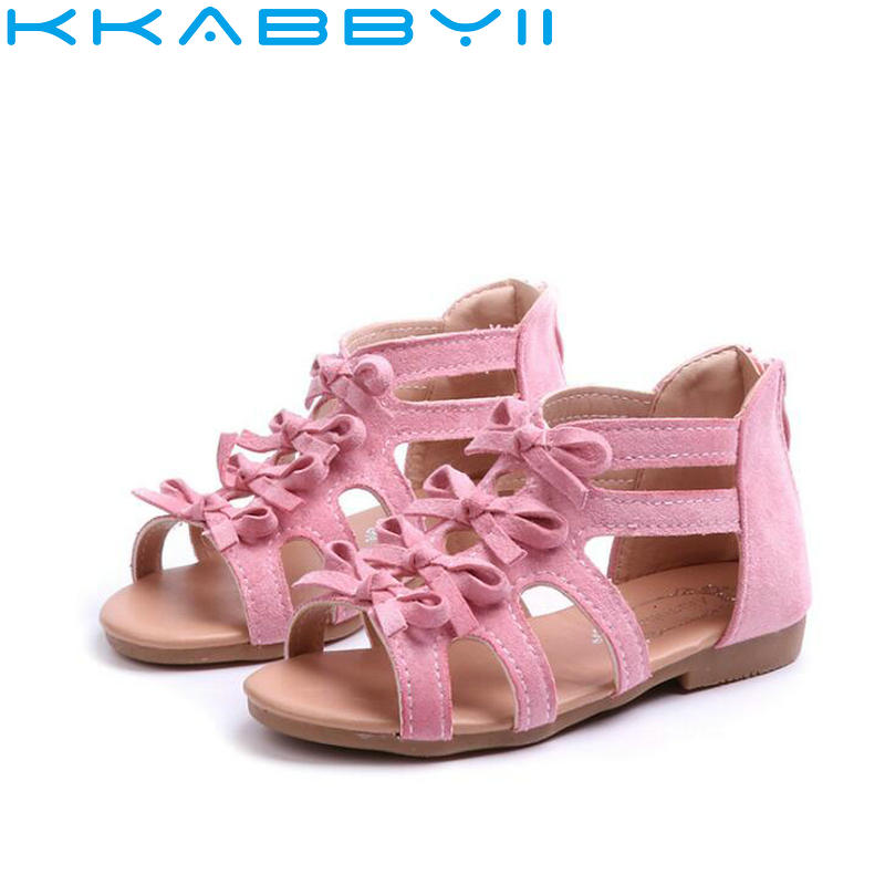 Summer Style Children Sandals Girls Princess Beautiful Flower Shoes Kids Sandals Baby Sh ...