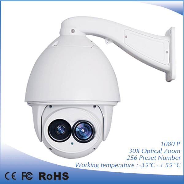HD 1080P 2 0MP PTZ IP camera auto tracking 30X optical zoom 500m IR Laser speed