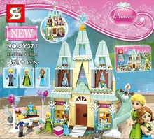 2016 New SY Building Blocks 41068 Arendelle Castle Set Friends Princess Anna Elsa Minifigures Gifts Toys Compatible Legoe