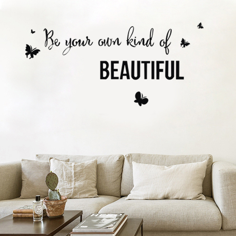 Vinyl Lettering Vinyl Wall Art Be your own kind of beautiful wall decal
