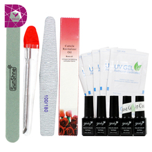 New arrival uv gel sets 96 nail color optional soak off led gel for LED/UV lamp  base gel top coat cuticle oil easy use Nb-1030