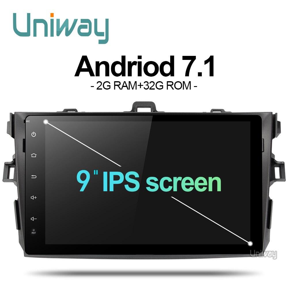 AKLL9071 uniway  android 7.1 car dvd for toyota corolla  2008  2007 2009 2010 2011 car radio gps player head unit