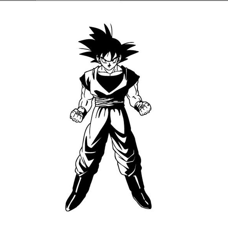 Gratis verzending Dragon Ball Z Goku Anime Manga Decor muurschildering vinyl Decal sticker, P2064
