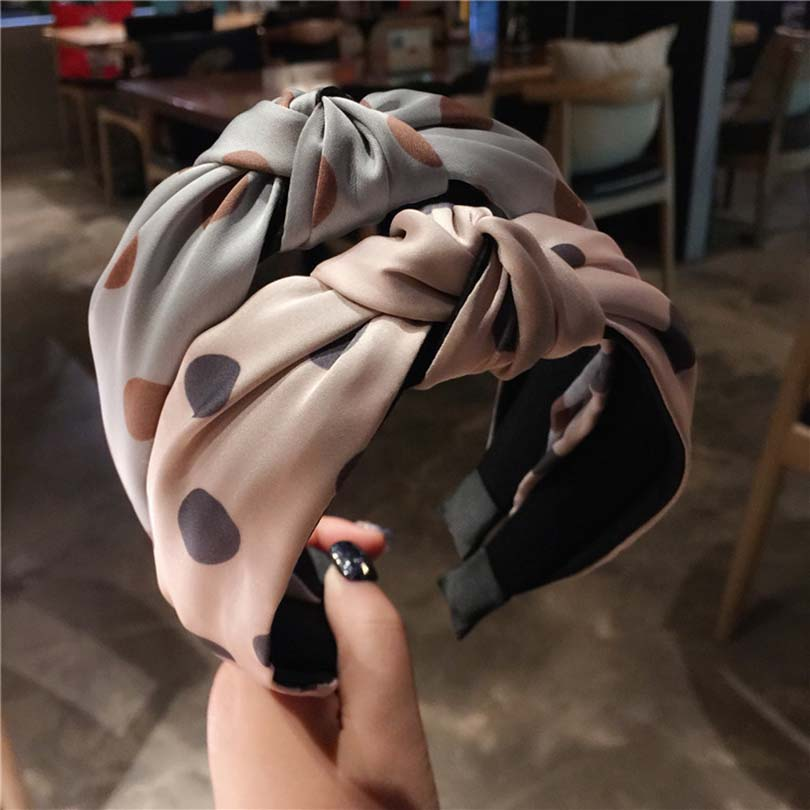 Модная женская повязка на голову с бантом, обруч для волос с перехлёстом, широкий обруч с узлом, женский простой обруч для волос в стиле ретр...