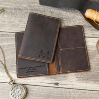 Engraved Personalized Passport Cover Made of Genuine Leather Travel Gift Custom Travel Wallet Sleeve Passport Bag