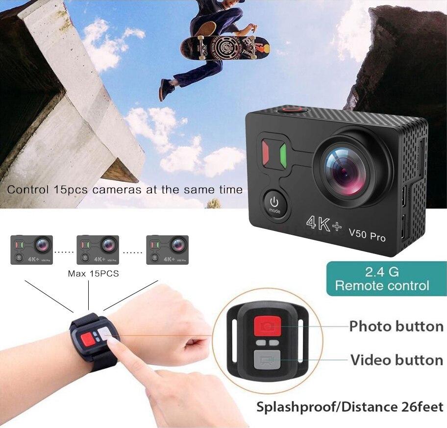 Date EKEN V50 Pro Action Caméra Ambarella Chipset Sony Capteur 4 k 30FPS Moto Caméra WiFi Étanche Mini Sport Caméra - 4