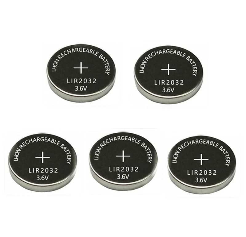 A pilha recarregável da moeda do botão do li-íon da bateria 40mah substitui para cr2032 cr 3.6 dos pces 2032 v lir 2032 do íon de lítio