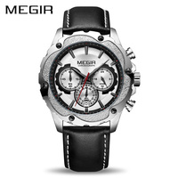 MEGIR Chronograph Sport Watch Men Relogio Masculino Top Brand Luxury Army Military Watches Clock Men Creative
