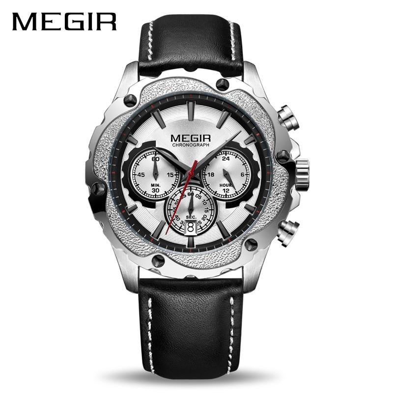 00e2ec0049c5 Megir Chronograph Sport reloj hombres Reloj masculino Top marca de lujo  ejército Militar relojes reloj creativo reloj de cuarzo envíos gratuitos en  todo el ...