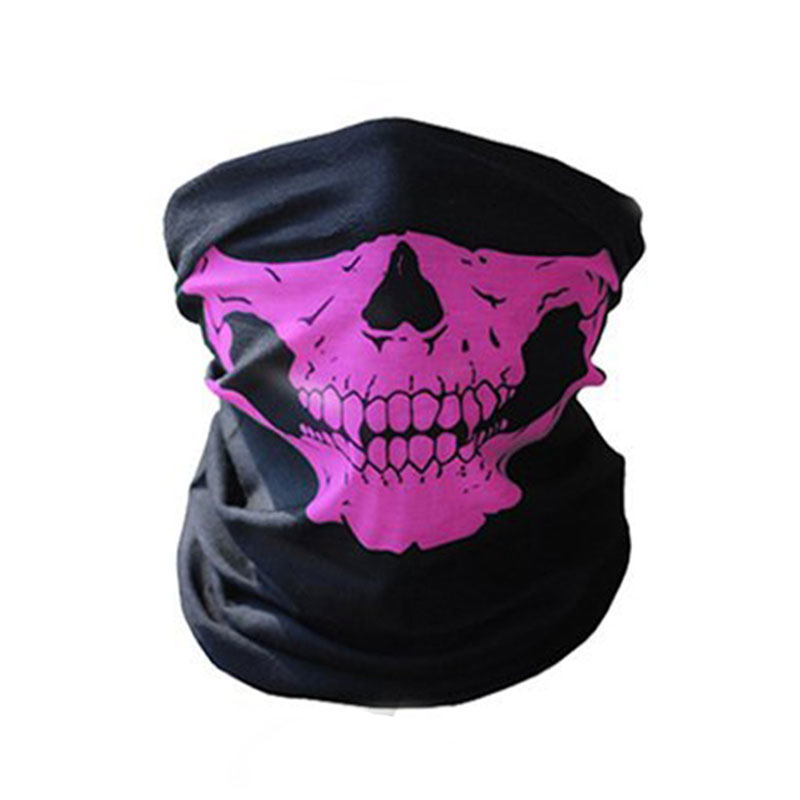 1 шт. для женщин мужчин велосипед Мотоцикл Череп Бандана Шарф средства ухода за кожей шеи маска-шлем для лица - Цвет: pink