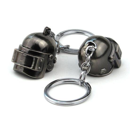 PLAYERUNKNOWN S BATTLEGROUNDS Helmet Keyrings Key Chains Keyholder PUBG Level 3 Car Pendant Fans Gift Holder