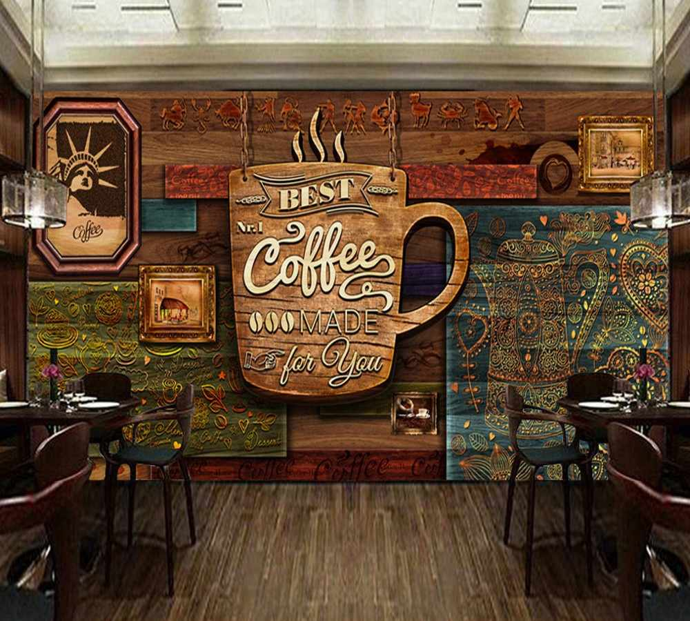 Vintage Café Detail Feedback Questions About Free Shipping Custom Mural