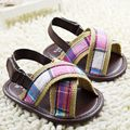 Милый детей-коричневых детская зонтик мальчиков обувь и девочки малыша обувь для лета предварительно ходок детей обуви 11 12 13 см