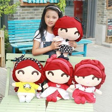 New Coming 45x29x21Cm 1 Pc Lovely Girl Plush Toy Doll Cute Pillow Doll 2016 Hot Sale