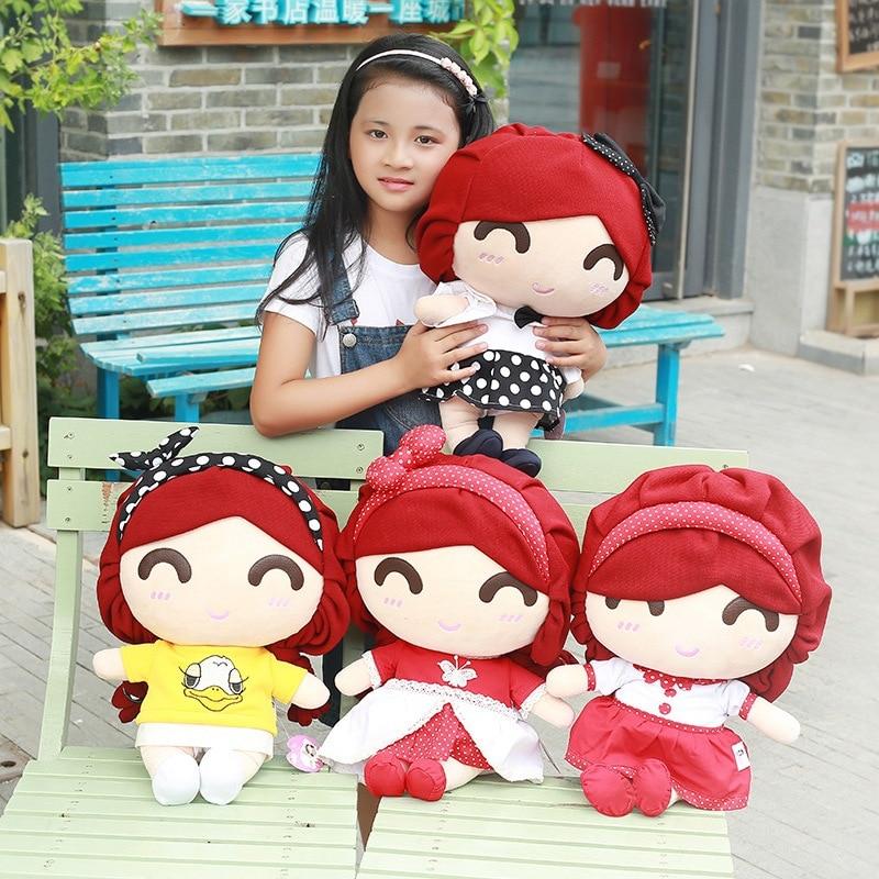 New Coming 45x29x21Cm 1 Pc Lovely Girl Plush Toy Doll font b Cute b font font