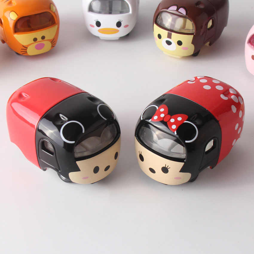 Tsum Tsum Cars Cartoon Cute 5cm Diecasts Minnie Mickey Donald Tigger Doll  Toys Car Toy Model Juguetes Kids Toys