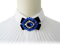 blue diamond bowknot luxury Mens bow tie finest velvet Adjustable butterfly Decorated Neckwear party wedding casual