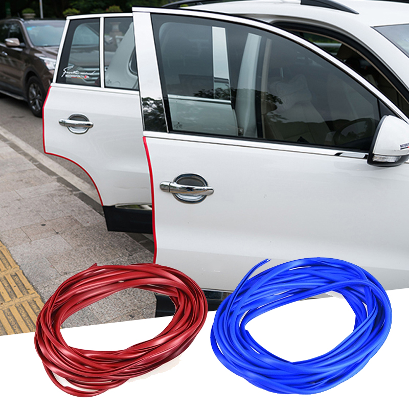 Car Stickers Door Scratch Strip Protector Edge Guard Rubber Sealing Universal Internal Decoration Auto Accessories Car-styling