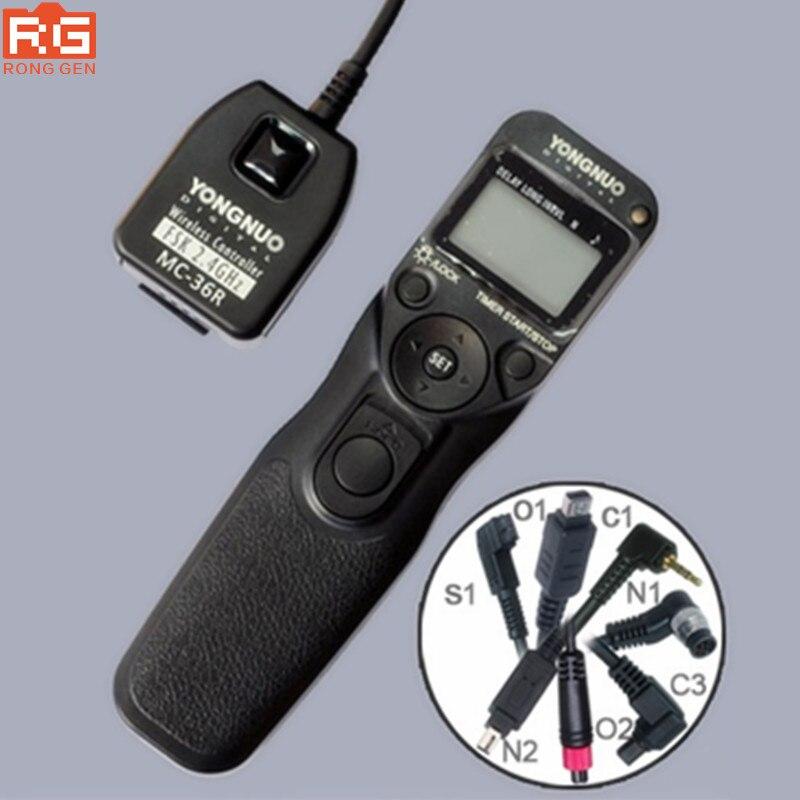 Yongnuo MC-36R N1, Yongnuo Wireless Timer Remote Control Shutter Release MC-36R MC36R for Nikon NIKON D800/D700/D300/D200/D100 yongnuo mc 36r n3 2 4ghz wireless timer remote controller receiver for nikon d90 d600 d3100 series