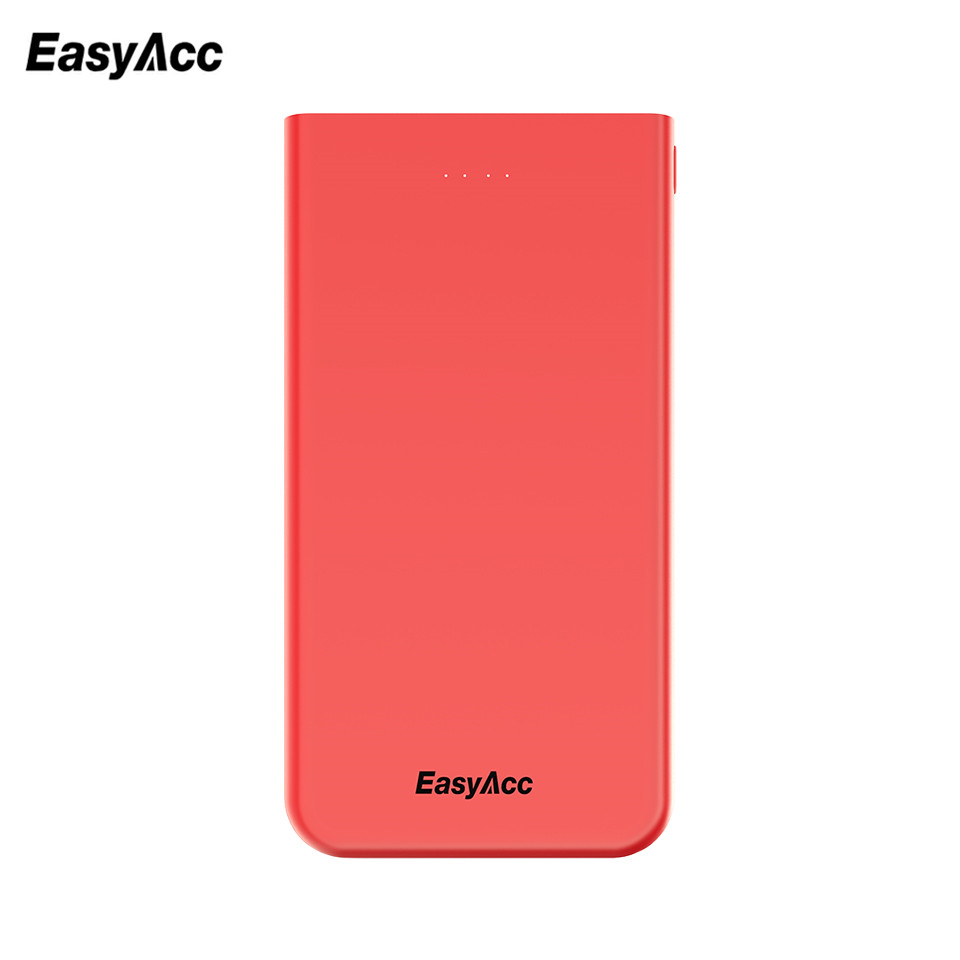 Easyacc Power Bank 10000 mAh Carga rápida Ultra Slim Power Bank Cargador de batería externo PowerBank para iPhone10 para Xiaomi Huawei