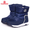 FLAMINGO 2016 new collection winter fashion snow boots with wool quality anti-slip kids shoes W6NQ020/022/024