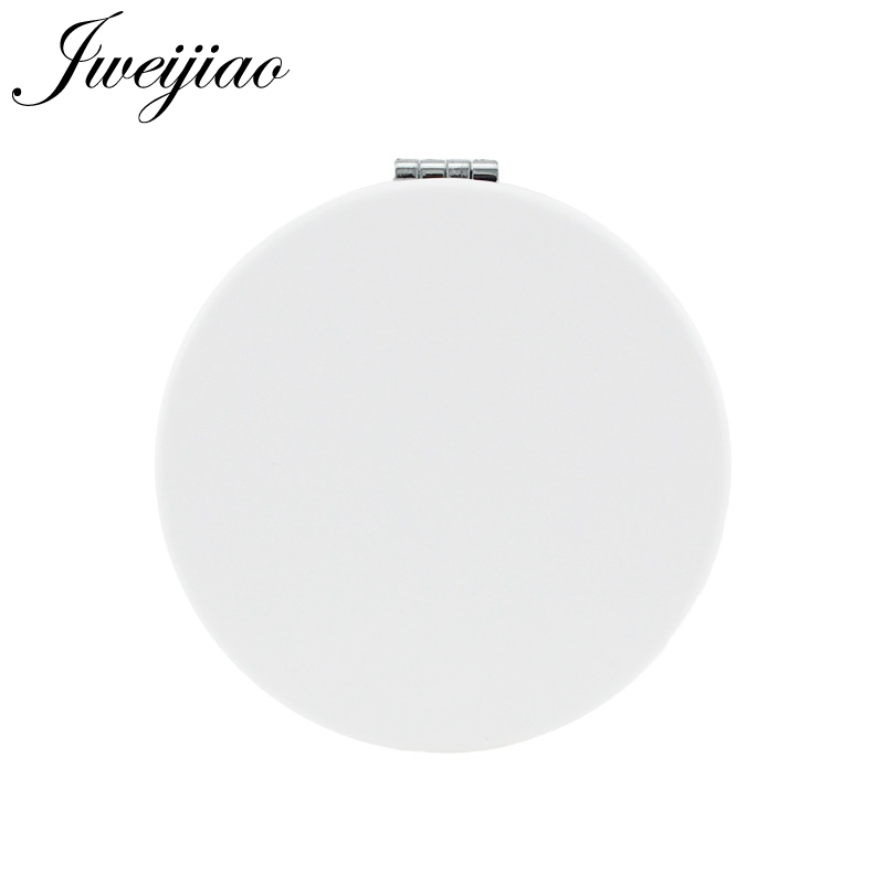 Jweijiao Round Folding Makeup Mirror Custom Photo Pu Leather Compact Portable Pocket Mirror Cosmetic Tools & Accessories Na01